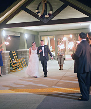 A wedding reception at the 4-H Lodge