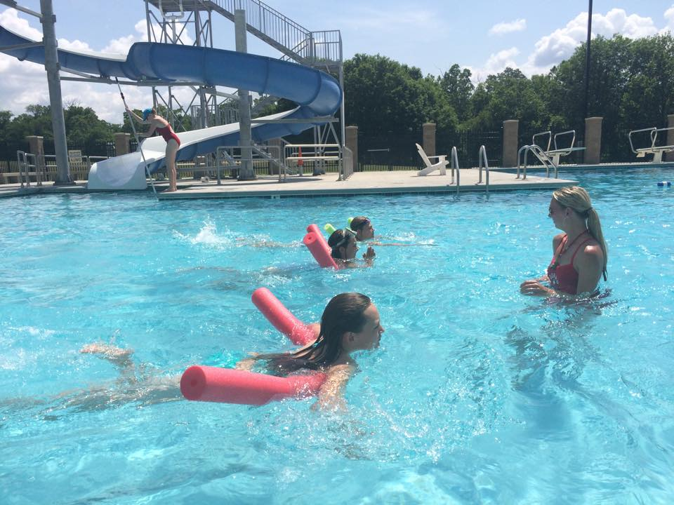 Swimming at Clyde Austin 4-H Camp